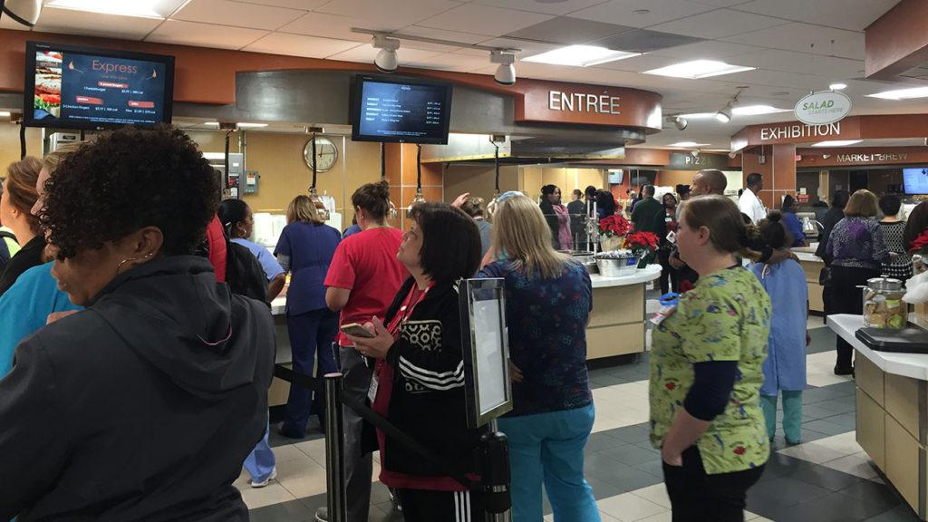 A quick visitor's guide to Carolinas Medical Center's cafeteria
