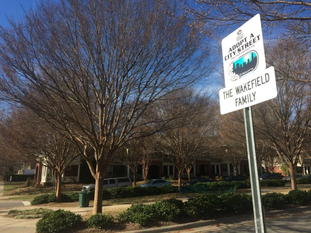 How to adopt a street or highway in Charlotte