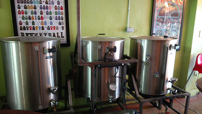 salud's-one-barrel-brewing-system