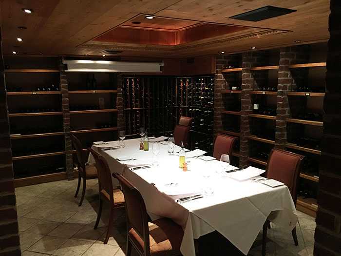 This 10-person private dining space is in the cellar of an old ...