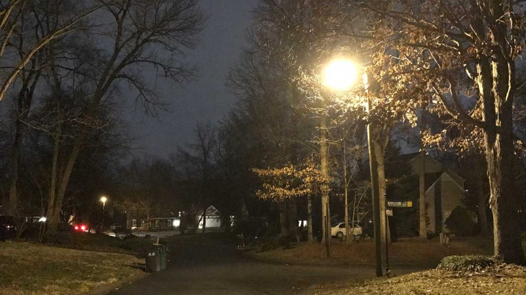 How do I get a streetlight put in by my house?