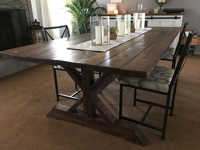 knotty artisan dining room table