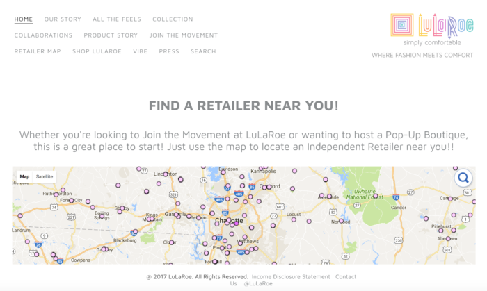 What The Hell Is LuLaRoe And How Do You Buy It Charlotte Agenda - Lularoe map pricing