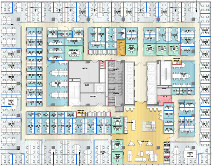 Coworking Giants Wework Industrious Unveil Floor Plans Pricing Timing on Work Floor Plan Layout