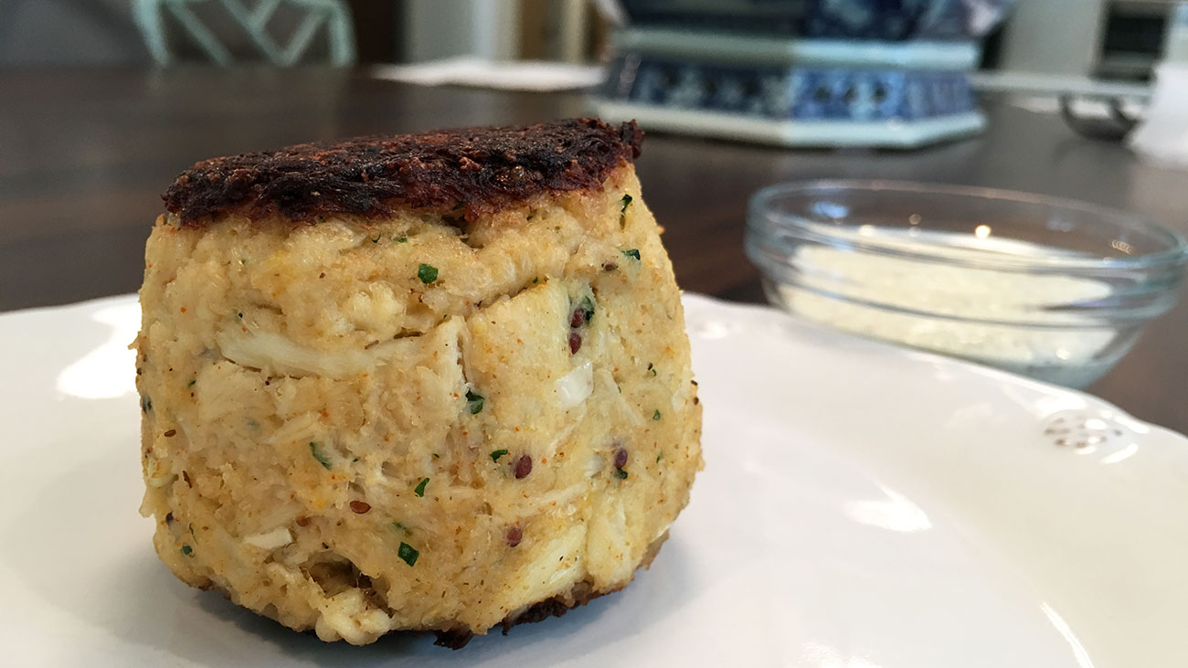 Top crab cake in Charlotte is a $13 DIY project shaped like a baseball