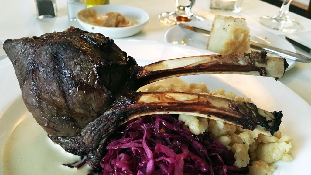 Fig Tree reigns supreme in fine dining. Their Elk Chop is legit.