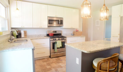 We remodeled our entire kitchen and kept the total under $3,000....