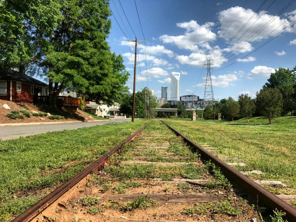 Those unused tracks on the west side will one day run a trolley from Blue Blaze Brewing to Panthers Stadium