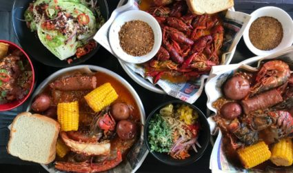 Here's your first look at the menu at Wu's Cajun Seafood,...