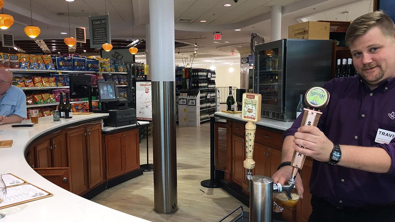 How to get $3 hoppy 9.6% beers and $3 glasses of wine in Myers Park? Say hello to Harris Teeter's second-floor bar