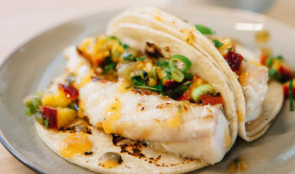 CLT + summer + beer. Try Chef Alyssa's easy Fish Tacos...