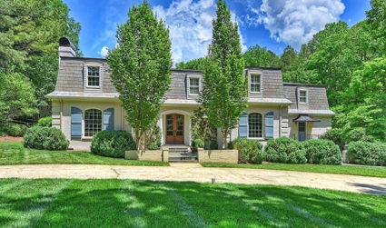 Elegant French provincial estate on 10th fairway of Carmel CC's north...