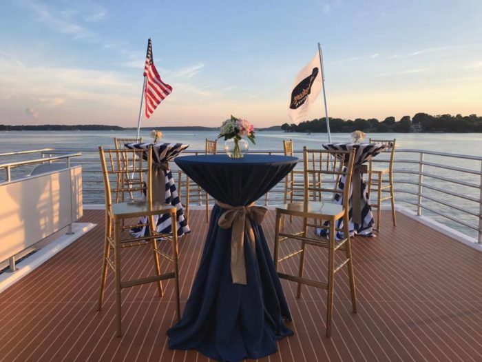 Climb Aboard Carolina Grace, The Largest Yacht On Lake