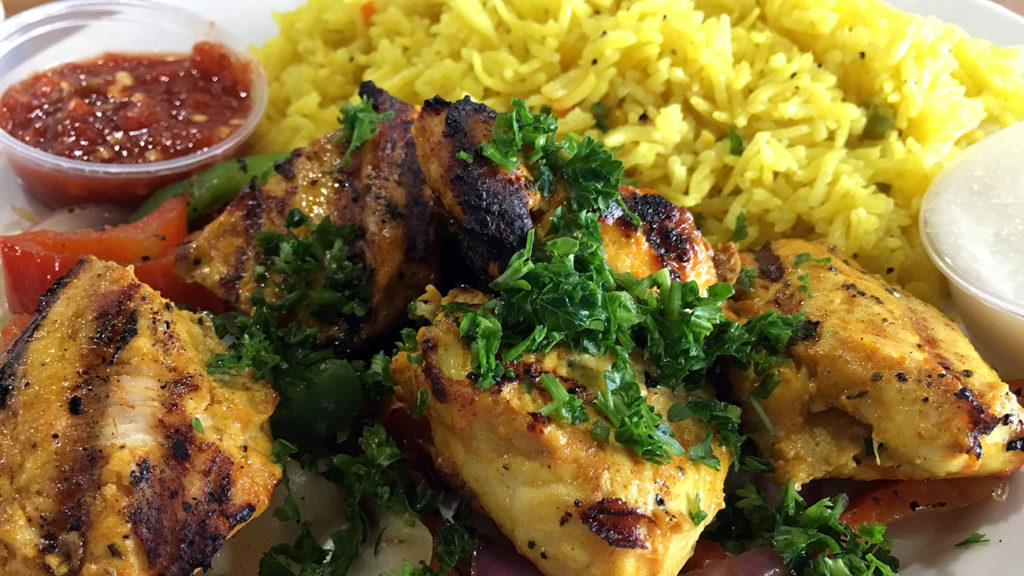 Jasmine Grill's $6.99 Chicken Kebab Lunch Special will blow your mind