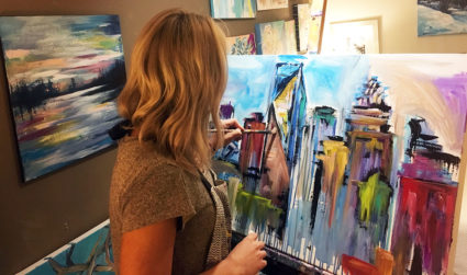 How one Charlotte artist managed to quit her job and replace...