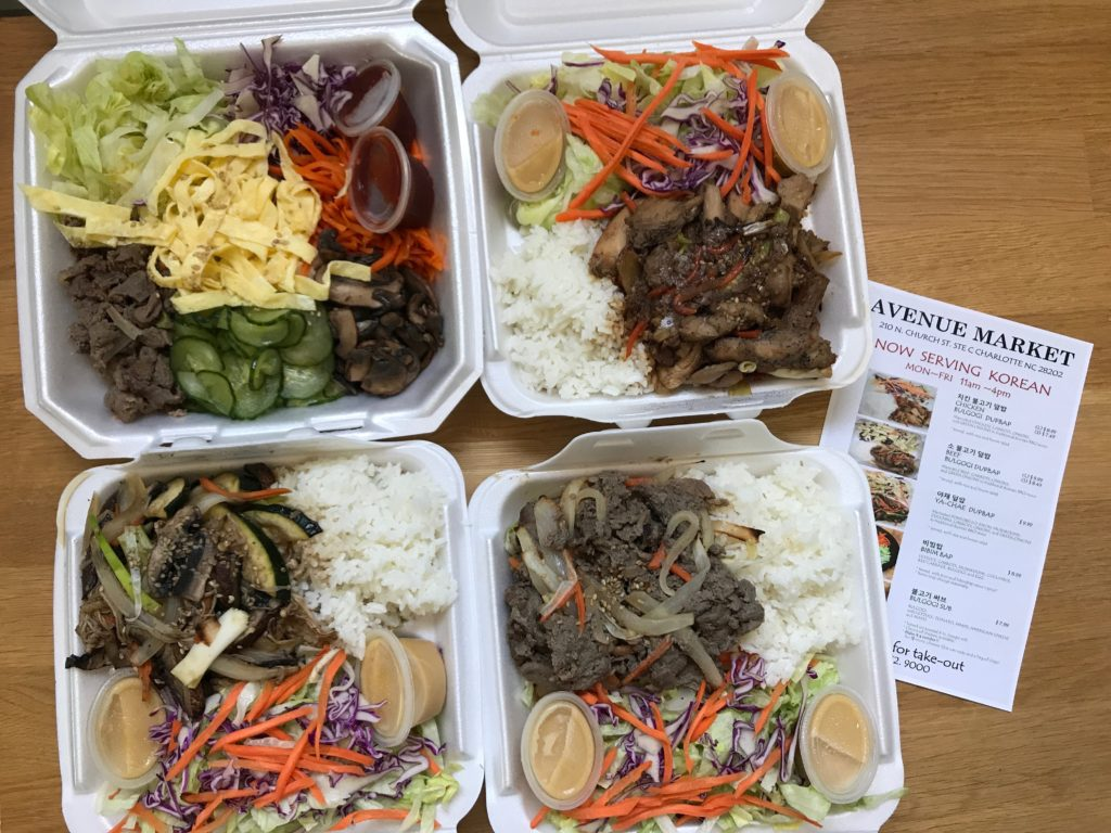 There's a Korean takeout counter inside an Uptown convenience store