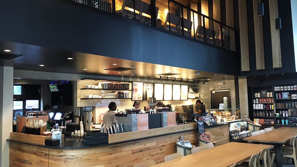 9 photos of the two-story SouthPark Starbucks with drive-through that's finally now open