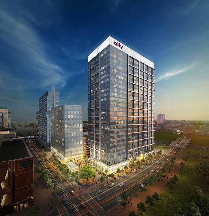 Ally Financial to Anchor 742000 SF Mixed-Use Development in Uptown Charlotte