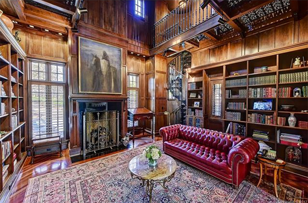 estate-with-library-charlotte-for-sale-home