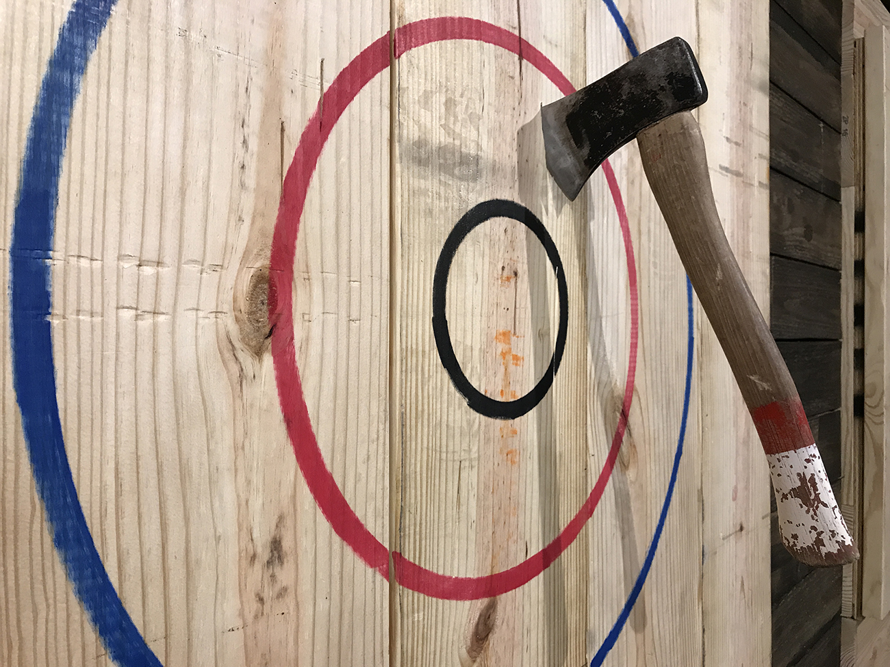 Lumberjaxe, the region's first axe-throwing facility, is gearing up for an early November opening. Here's your first look inside.