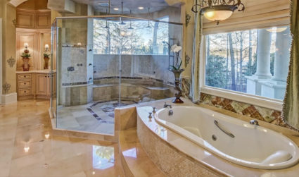 Need a home with a massive shower? View bedroom-sized showers in...