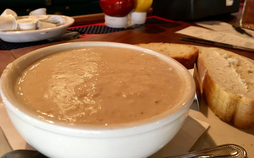 Craving soup? You may know Eddie's Place for the all-day breakfast, but their she-crab soup is legit