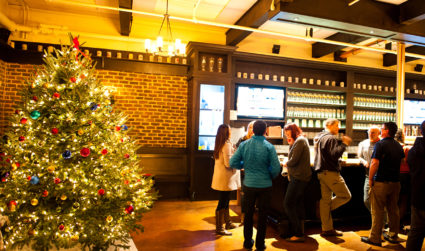 OMB's Christmas market, complete with wooden huts and mulled wine, returns...