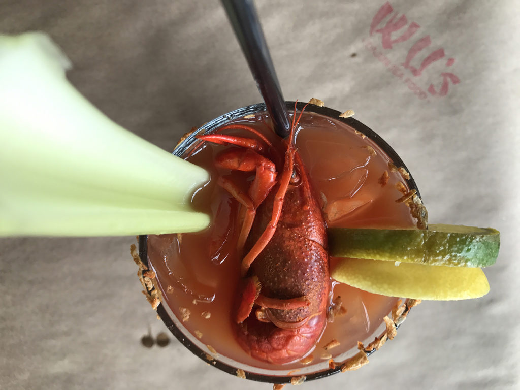 Wu's has launched a brunch menu that includes a Bloody Samurai topped with an entire crawfish