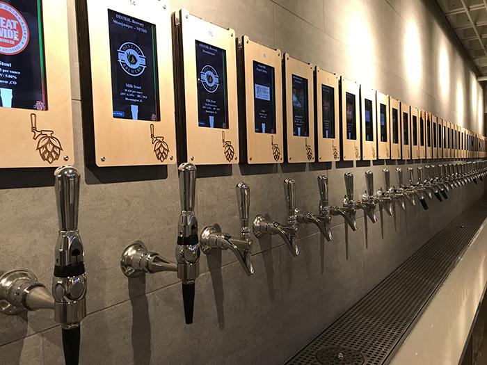 Hoppin beer taps