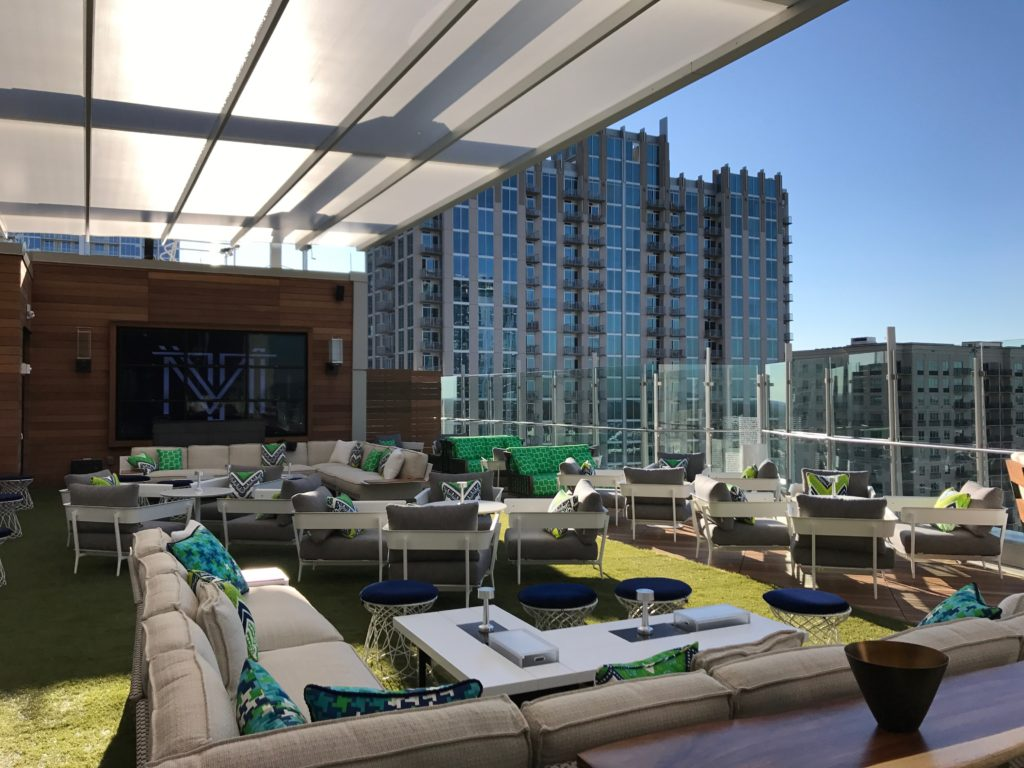 Merchant & Trade, Uptown's newest rooftop bar, is now open atop the Kimpton Tryon Park Hotel