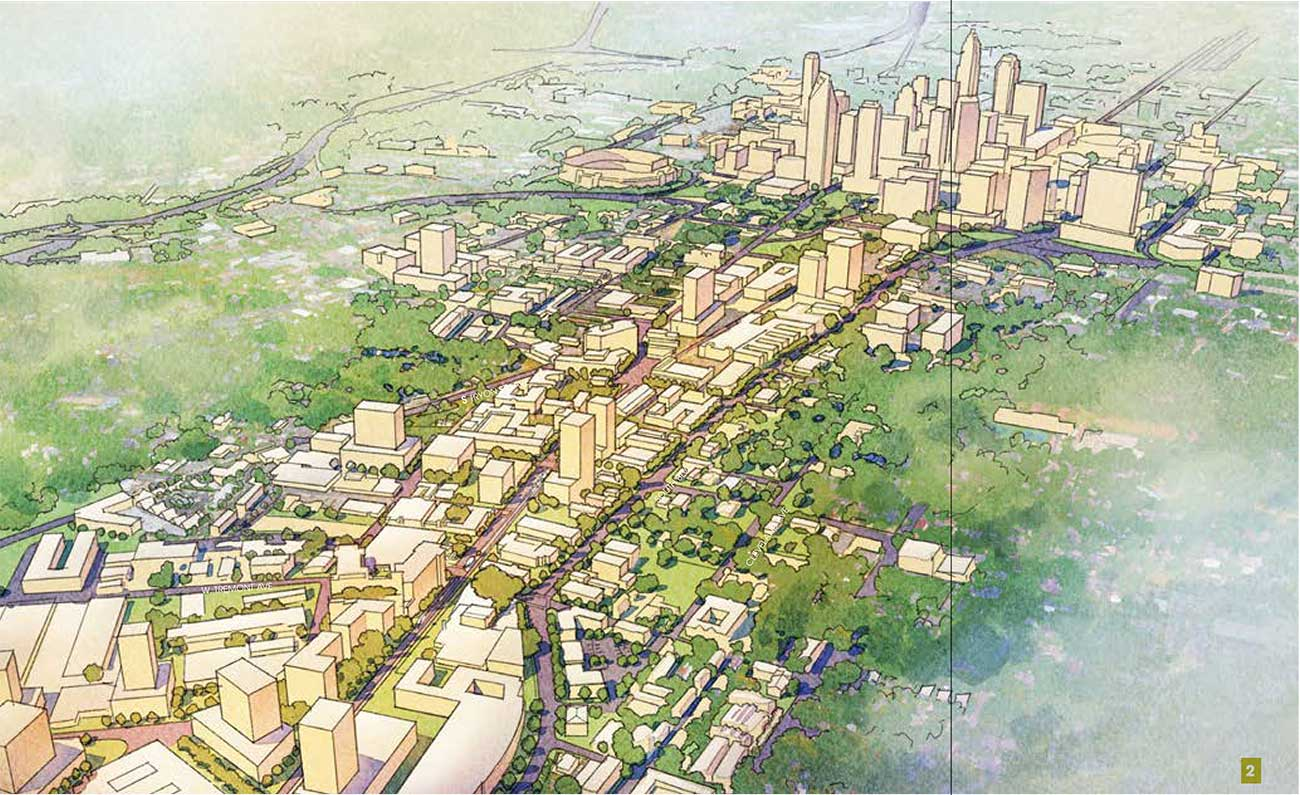 The vision for South End: 15-story towers and a pleasant stroll down South Boulevard