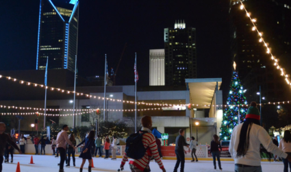 Holiday on Ice, Uptown's outdoor skating rink, opens today for the...