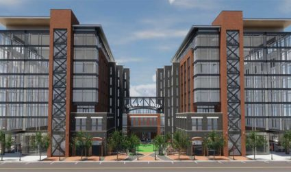 Construction now underway on the RailYard. 100 micro-apartments, 4 restaurants and trendy offices expected to open January 2019 in South End