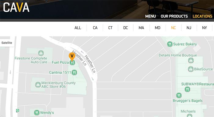 cava-charlotte-map-park-road-shopping-center