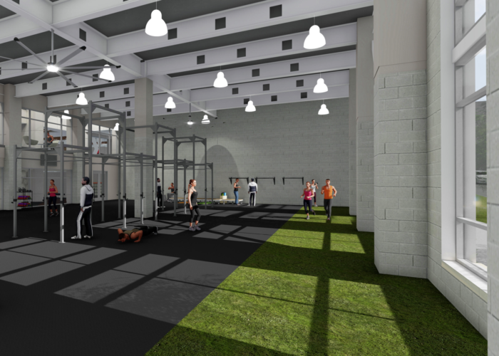 Inside the dowd ymca 39 s massive 29 million expansion for 3000 sq ft gym layout