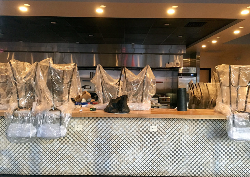 Flourshop, a 66-seat pasta restaurant with exposed kitchen, set to open this month in Park Road Shopping Center