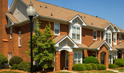 Spacious apartments and townhomes on 31+ acres of tree-lined streets at Providence Park in Ballantyne / 1-3bd / Call for pricing