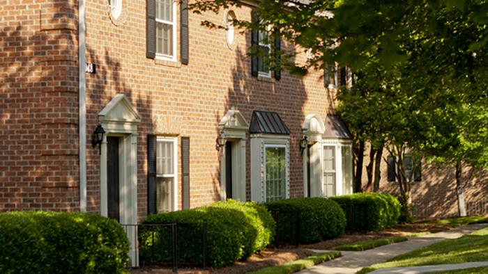 Garden style homes at Strawberry Hill Apartments in the heart of SouthPark