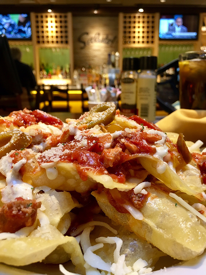 I Ordered The 1 520 Calorie Italian Nachos From Olive