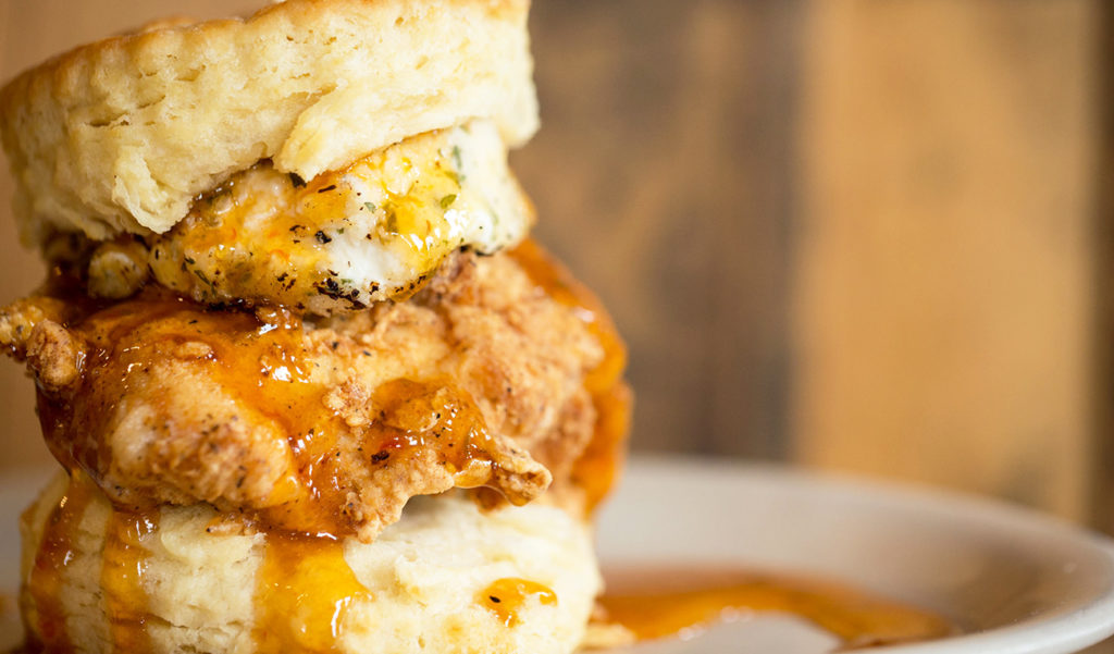 "Maple Street Biscuits, home of the ""Squawking Goat Biscuit,"" opening in SouthPark this spring near YAFO"