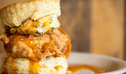 "Maple Street Biscuits, home of the ""Squawking Goat Biscuit,"" opening in..."