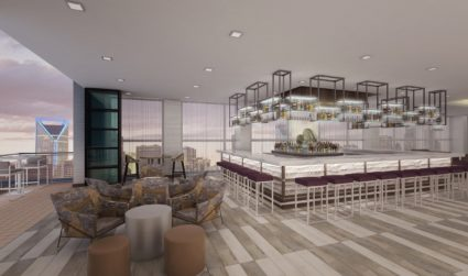 Uptown's next rooftop bar includes a luxury 2-bedroom penthouse suite available...