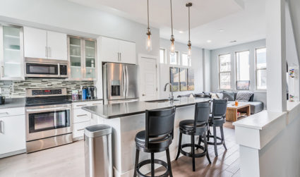 Contemporary corner unit townhome in South End