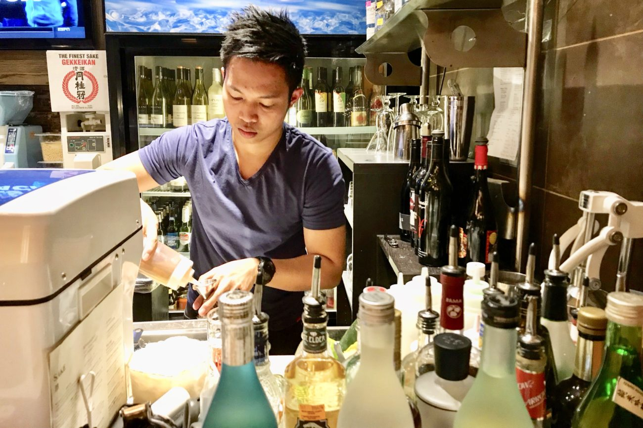 This award-winning 26-year-old bartender could work anywhere in the world and he's about to launch his cocktail program at Sushi Guru