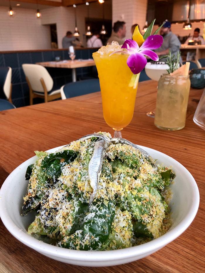 salad at indaco charlotte