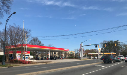 The gas stations at Sharon and Fairview in SouthPark need to go