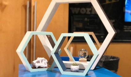 Make & Mingle: Honeycomb Shelves