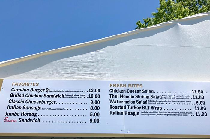 food-menu-wells-fargo-golf-championship