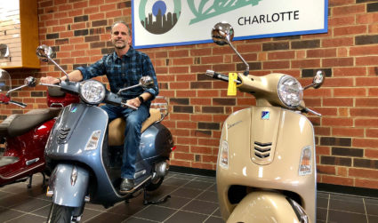I took a test drive at Charlotte's new Vespa dealership and...