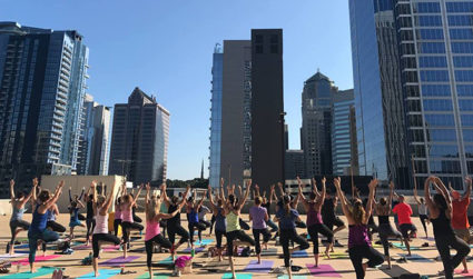 Join fellow yogis for a 60-minute slow flow at Yoga On The Deck followed by mimosas and 10% off brunch tomorrow May 19 at 400 S Tryon Street, class $10